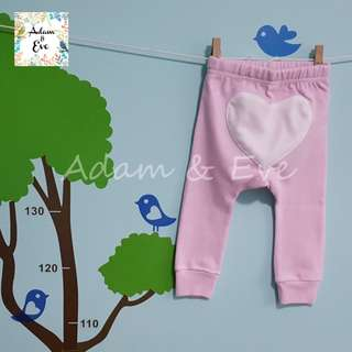 ⭐️Baby Fashion⭐️ Baby Pants E3 – Heart Pants (Pink)