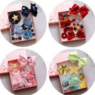 ~Ready stock~ BN 10Pcs Princess Girls' Assorted Hair Clips Accessories Set