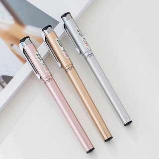 墨水筆0.5mm 文具 玫瑰金 銀色