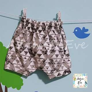 Assorted Graphic Shorts E6 – Grey Triangles Shorts