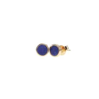 Flat Round Gemstone earrings
