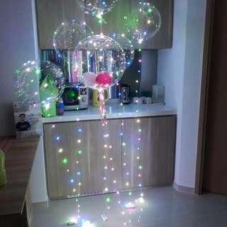 Led balloon helium