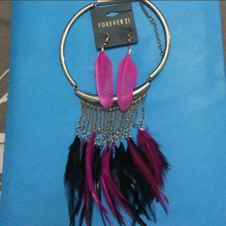 forever 21 necklace & earrings set