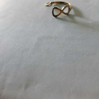 Infinity gold ring (adjustable)