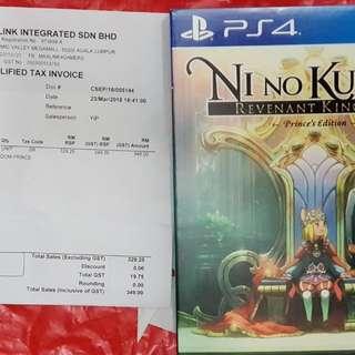 PS4 R3 Nino No Kuni II - Prince Edition