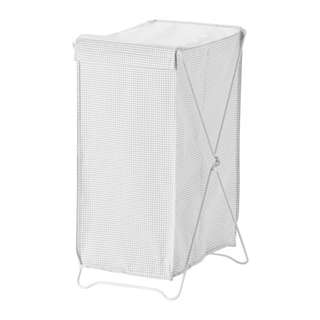 [IKEA] TORKIS Laundry Basket / White+Grey