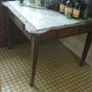 Old Solid Wood Antique Majong Table