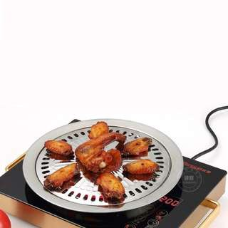 Non-Stick Korean Style Barbecue Pan Tray Griddle Household Kitchen