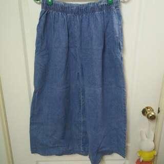 牛仔寬褲(OB購入)