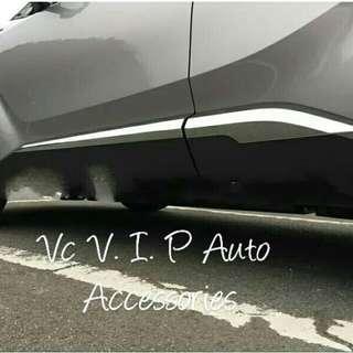 4pcs ABS chrome side moulding cover trim