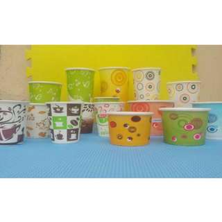 printed paper cups and paper bowls