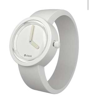 O Clock White Womens Watch