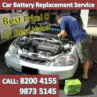 Car Battery Change Onsite
