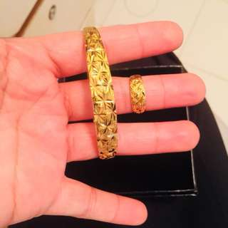 9999 solid gold coated