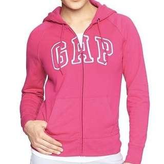 GAP zip up hoodie 桃紅連帽外套brand new
