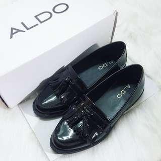 【近全新】ALDO漆皮流蘇低跟樂福鞋