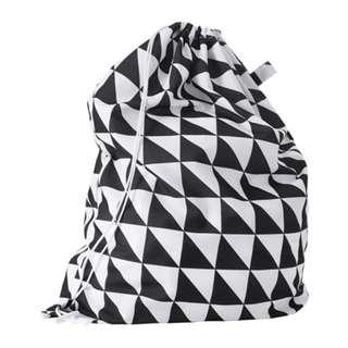 [IKEA] SNAJDA Laundry Bag / White+Black