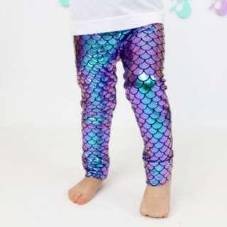 PREORDER Kids Mermaid Leggings