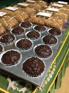 Chocolate muffin top with chocolate chip