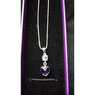 (現貨)紫色愛心項鍊