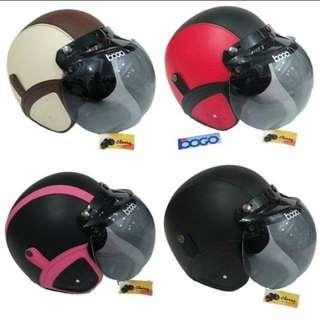 Helm bogo retro berbagai warna