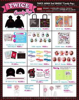 Twice - Candy Pop Release Event Goods