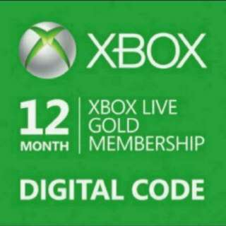 XBox Live Gold Membership 12 Month Digital Code Fully Verified