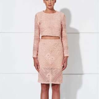 WINONA Paris Pink Lace Skirt