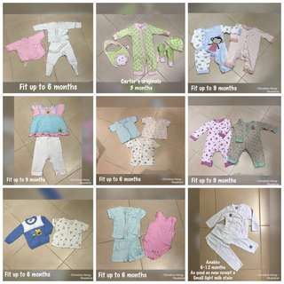 Bundle of Preloved baby clothes