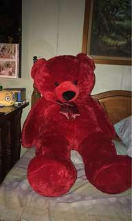 HUMAN SIZE - Imported (New) 4.7FT TEDDY BEAR! (red)