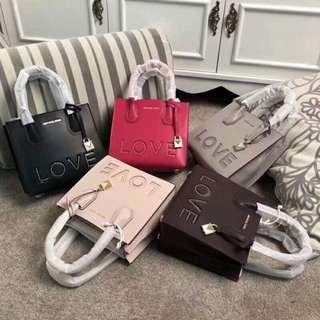 Michael Kors Leather Love Studded Mercer Bag
