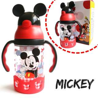 Disney Mickey Water Bottle Learning Cup With Straw BPA-Free 400ml