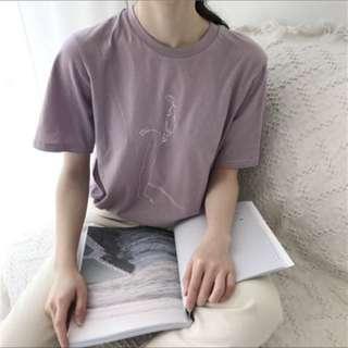粉紫勾勒上衣💜