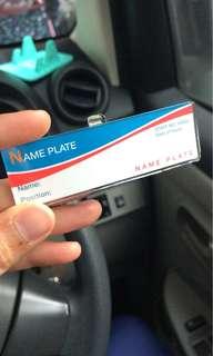Acrylic name tag