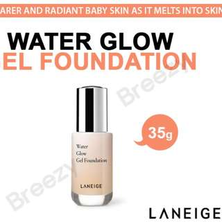 Laneige water glow gel foundation + base corrector (green)