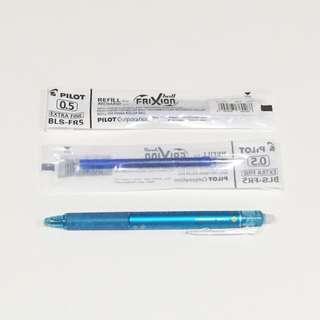 1筆+2芯=$99 日本百樂PILOT 按鍵式摩擦筆 擦擦筆 0.5 替換筆芯 淺藍色