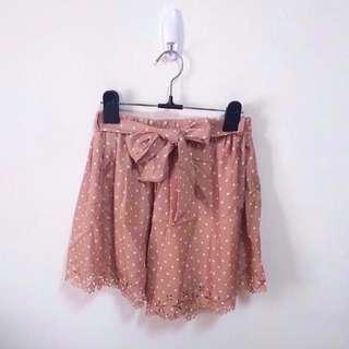 點點燒花綁帶褲裙