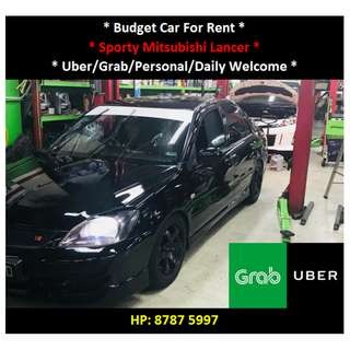 Budget Car Rental - Sporty Lancer Auto For Rent - Daily / Uber / Grab Welcome