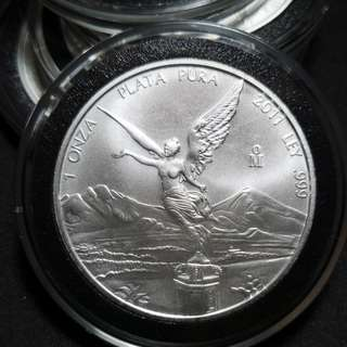 2011 Mexico 1 oz Silver Libertad Straight from mint roll