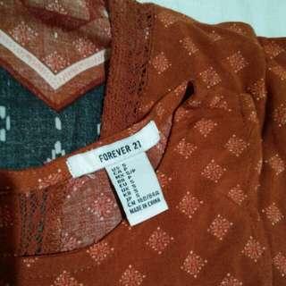 F21 summer blouse