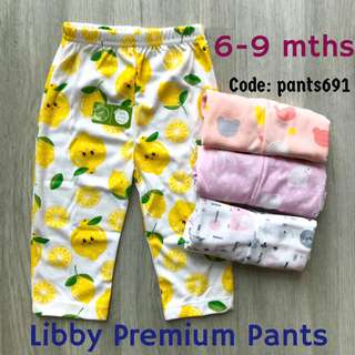 6-9m Libby Premium Pants Casual Home Baby