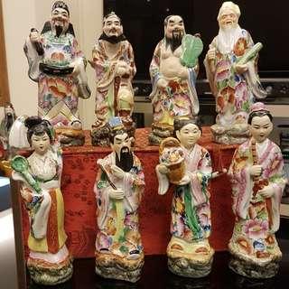 Eight deities (9 inch) from Hubei