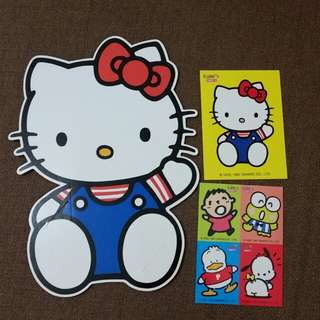 Sanrio Kalm's Kitty 硬卡加貼紙 1997
