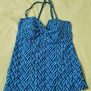 Sassa Swimsuit printed blue