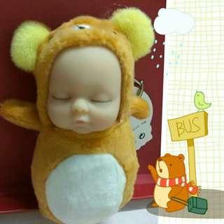 Sleeping baby Rilakuma Keychain