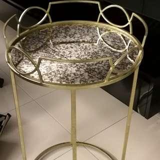 side table-light gold colour