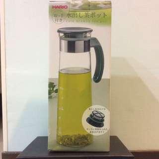 (HARIO)日本深綠典雅把手冷泡茶壺