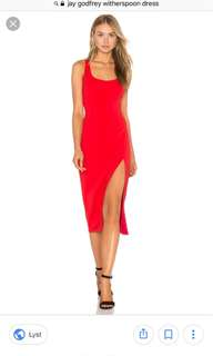 Jay Godfrey Witherspoon red dress 0