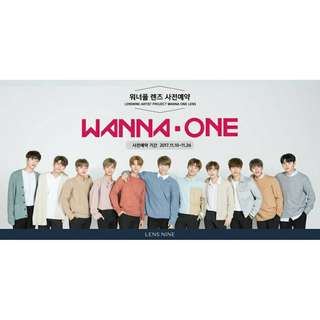 《 有盒子 》Wanna One X LENS NINE 代言海報