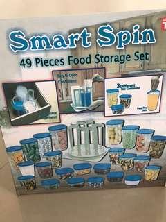 Smart Spin 49 pieces Food Storage Set
